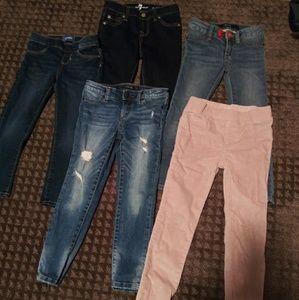 Girls Sizes 5-6 Joes, Seven, Zara Jeans Bundle